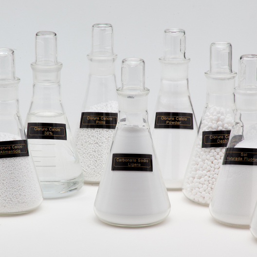 Glass Flask with chemicals products
